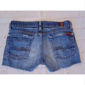 7 Seven For All Mankind Jeans Cut off Denim Shorts